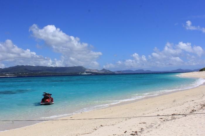ベストコンディションの水納島