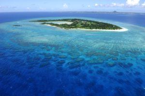 水納島上空写真