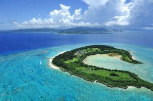 水納島航空写真