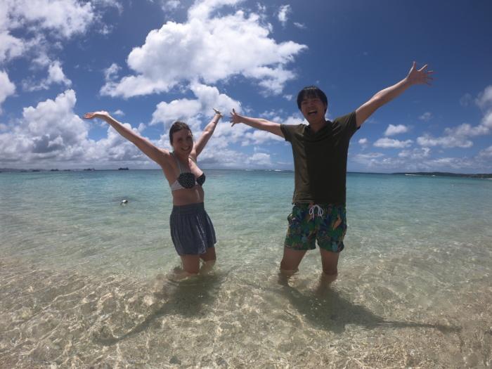 綺麗なビーチで映え写真